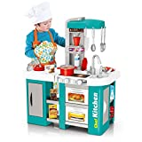 GOODIDEA Run Your Own Gourmet Shop! Kids Kitchen Playset Cooking Accessories Toys Gift, Pretend Play Kitchen Toy Set, with All The Sights and Running Water Sounds (Multicolour)