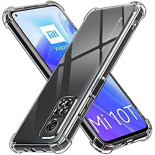 iVoler Cover per Xiaomi Mi 10T 5G / Xiaomi Mi 10T PRO 5G, Custodia Trasparente per Assorbimento degli Urti con Paraurti in TPU Morbido, Sottile Morbida in Silicone TPU Protettiva Case