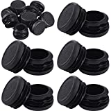 20 Pieces Round Plastic Plug Non-Slip Tubing End Cap Pipe Tube Cover Durable Chair Insert ...