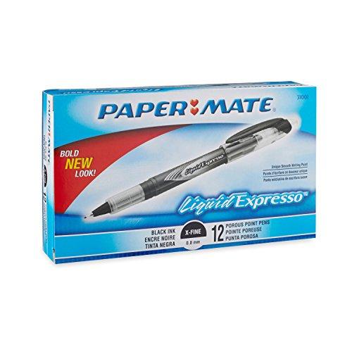 Paper Mate Liquid Flair 21002BH Porous-Point Kugelschreiber, mittlere Spitze, 12 Stück, Rot