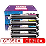 [page_title]-XHJZ Kompatible Toner Cartridge Ersatz für CF350A / CE310A Color Laserjet Pro PS M176 NINK Patrone M177fw CP1025 Tonerpatrone MFP M175nw M275 Drucker (Schwarz Cyan Gelb Magenta, 4-Pack)