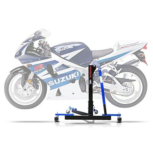 ConStands Power Evo-Zentralständer Kompatibel für Suzuki GSX-R 750 00-03 Blau Motorrad Aufbockständer Montageständer Heber