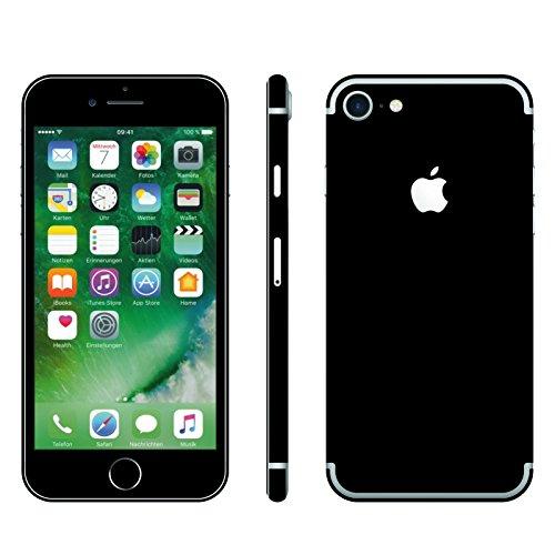 Leuchtkäfer Werbetechnik iPhone 7 SCHWARZ MATT Folie Skin ZUM AUFKLEBEN Bumper case Cover schutzhülle i Phone