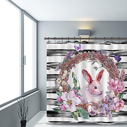 Topyuan Duschvorhang mit 3D-Digitaldruck
