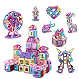 ASOK Magnetic Building Block 155pcs Educational Magnet Tiles Creative Learning and Development Macaron Color Toys Set for 3 4 5 6 7 8 Years Old Boys Girls Kids