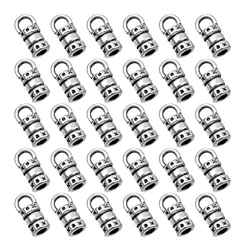 200 PCS Alloy Cord Ends Bucket Necklace Clasp Metal Cord End Fasteners for Necklace Bracelet Jewelry Making