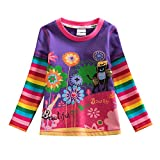 VIKITA Mädchen Langarm Baumwolle T-Shirt Top 1-7 Jahre L328Lila 5T