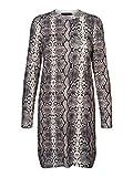 Vero Moda Vmsnack LS O-Neck Dress Vestido, Multicolor (Snow White Detail: W. Birch+Silver Mink+Black), Large para Mujer