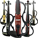 Aliyes faite à la main Silencieux Violon électrique 4/4Taille complète pour violon professionnel pour débutant en bois massif pour violon kit Corde, Épaulière, colophane SDDS-E601