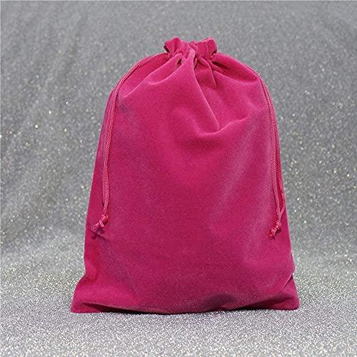 DFGER Bolsas para Joyas Paquete de 50 Bolsas con cordón de Terciopelo para Regalo de joyería Fiesta de cumpleaños de Navidad Favores de Boda DIY Craft, Negro, 7x9cm (Color : Rosered, Size : 8x10cm)