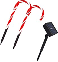 OSALADI Candy Christmas Lights LED Solar Powered Candy Cane Lights Outdoor Pathway Marker for Xmas Indoor Outdoor Decoration