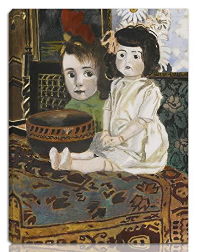 Berkin Arts Leon Spilliaert Gedehnt Giclee Auf Leinwand drucken-Berühmte Gemälde Kunst Poster-Reproduktion Wand Dekoration Fertig zum Aufhängen(Kleines Mädchen hat die Puppe)#NK
