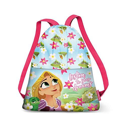 Karactermania Rapunzel riem Drawstring Bag (Small) gymtas, 35 cm, groen (groen)