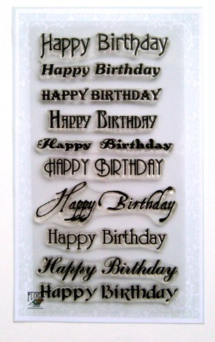 Happy Birthday (4'x7') Clear Stamps Sheet/Greetings Wishes Happy Birthday