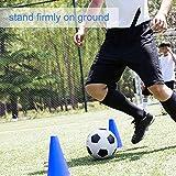 VIFERR Barrera Futbol Cono de Entrenamiento de Fútbol, Barrera de Plástico de Fútbol, Accesorio de Soporte de Marcador para Fútbol Traning 10...