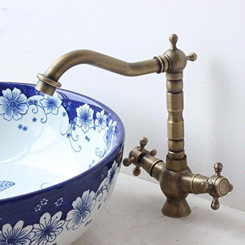 Küchenarmatur Waschtischarmatur Wasserfall Wasserhahn Bad Mischbatterie Badarmatur Waschbecken Badezimmer Becken Wasserhahn Kupfer antiken heien und kalten Waschtischmischer