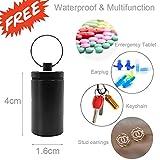 Tablettenbox 7 Tage 4 Fächer - Rund Pillenbox mit Kostenlosem Pillendose Schlüsselanhänger, Tablettendose Morgens Mittags Abends Nachts - Ideal für Medikamente, Tabletten, Vitamins - 2
