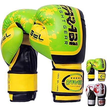 Farabi Sports Boxing Gloves Boxing Gloves for Training Punching Sparring Muay Thai Kickboxing Gloves (Green, 10-oz)