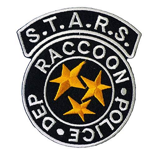 Graphic Dust Stars Raccoon Police Badge Iron On Patch Logo Umbrella Corporation Biohazard Skull Rescue Team Cosplay Costume S.T.A.R.S. Biohazard