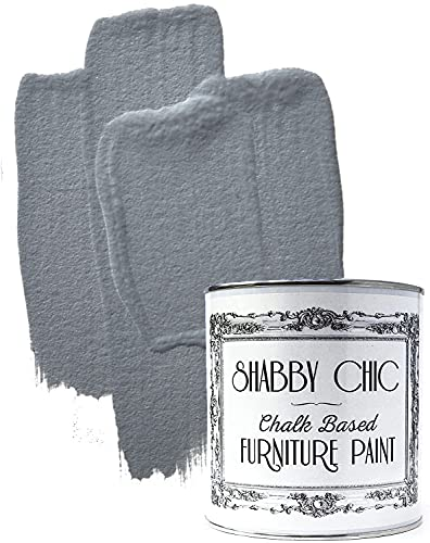 Shabby Chic Chalked Furniture Paint: Luxurious Chalk Finish Furniture and Craft Paint for Home Decor, DIY Projects, Wood Furniture - Interior Paints with Rustic Matte Finish - 8.5oz - Pebble Grey