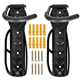 Bike Rack- Wall Mount- Stands For Indoor Storage-Adjustable Angle- Fits For All- Vertical Rack- Hooks For Garage-Muscle Rack- Ceiling Mount-Garage Storage - Bike Holder- Bicycle Hooks-Wall Hanger-Clip