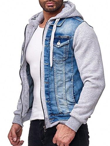 Redbridge Hombres Chaqueta de Jeans Moderno Sudadera Biker Jackets con Capucha