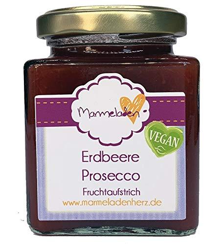 220g - Marmeladenherz - Fruchtaufstrich - verschiedene Sorten - vegan (Erdbeere Prosecco)