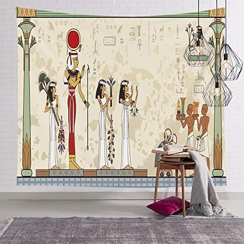 Tapiz del faraón egipcio antiguo pintura famosa colgante de pared pirámide pirámide estera de yoga toalla de playa tapiz egipcio a7 130x150cm