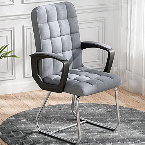 SFFZY Silla de Ordenador Simple para el hogar, Silla de Juego de Material de algodón PU, Silla de Juego de Dormitorio para Estudiantes, sillón de Muebles Informales de Moda (Color : Gray)