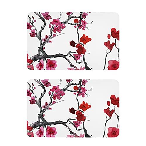 Imanes de nevera con diseño de flores de cerezo y acuarela. Divertidos imanes decorativos para nevera