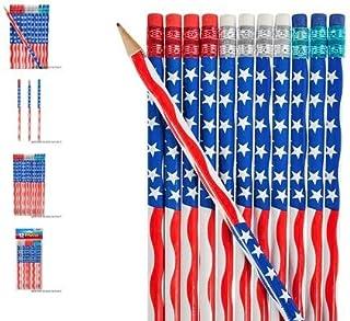 """(48) 7.5"""" الولايات المتحدة أقلام علم ~ هدايا للحفلات ~"""