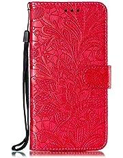 Hoesje voor Sony Xperia 1 Wallet Book Case, Magneet Flip Wallet met Kaarthouders slots Robuuste schokbestendige Bookcase voor Sony Xperia1 - JEEB021395 rood