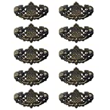 Etase Paquete de 10 Gabinetes de Cocina Antiguo Tire de los Muebles Manijas de Cajones de ExtraccióN de Gota Perillas de Tocador de Dormitorio Bronce Antiguo