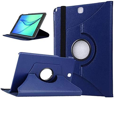 Beebiz Scheda Samsung 9.7 Copertura - Rotante Cassa 360 ° Cuoio per Samsung Galaxy Tab 9,7 Pollici Cassa di coperture sm-T550 / T555 Caso Protettivo Coperchio Che Offre lembo Blu Scuro
