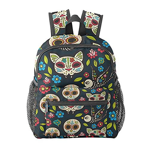 Mexico Skull Cat Backpack for Boys and Girls Perfect Size for Travel