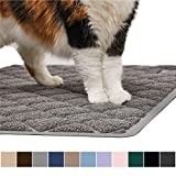 Gorilla Grip Original Premium Durable Cat Litter Mat, 35x23, XL Jumbo, No Phthalate, Water Resistant, Traps Litter from Box and Cats, Scatter Control, Soft on Kitty Paws, Easy Clean Cat Mat, Gray