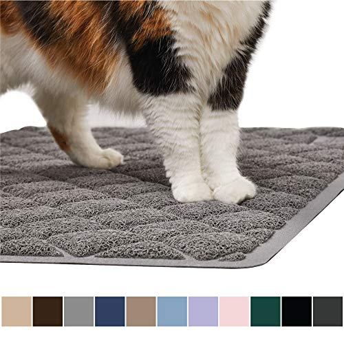 Gorilla Grip Original Premium Durable Cat Litter Mat, 35x23, XL Jumbo, No Phthalate, Water Resistant, Traps Litter from Box and Cats, Scatter Control,...