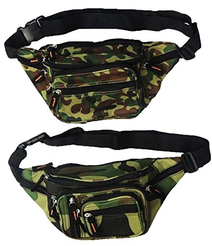 2er Pack Bauchtaschen Camouflage (A)