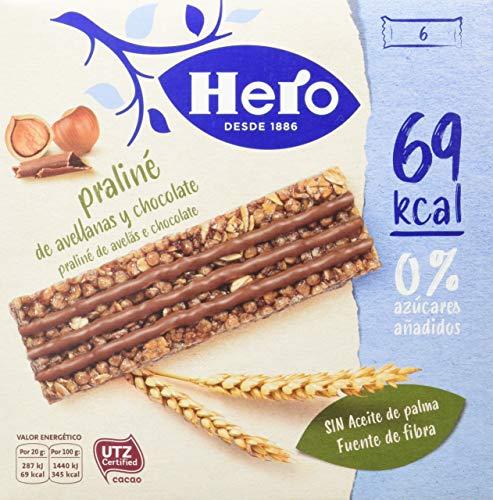 Hero Línea Barritas Praliné de Avellanas con Chocolate con Solo 69 Calorías Sin Azúcares Añadidos 🔥