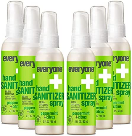 Everyone Hand Sanitizer Spray Peppermint and Citrus Travel Size 6 count product image
