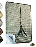 Valkyra - Rascador para Gatos Autoadhesivo, Alfombrilla de sisal para Mueble horizontales y Verticales, Juego de Plumas y Hierba Gata (40 x 60 cm, Verde Claro)