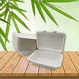 Be Tasty Imbissbox Bagasse - Caja para menús (caña de azúcar, 600 ml, 50 unidades)