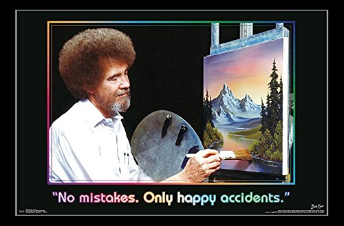 Bob Ross - Accidents Poster Print (86,36 x 55,88 cm)