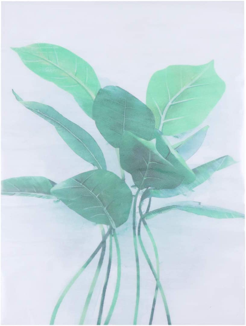 IMIKEYA 3D Green Online limited product Plants Fresh Wall Sticker Leaves Year-end annual account D