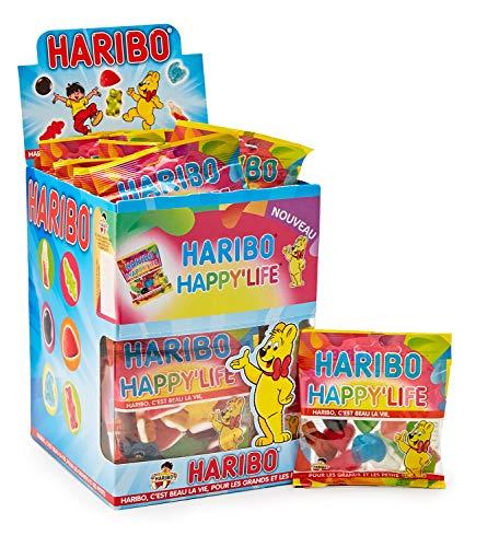 HARIBO Happy Life Assortiment de Bonbons Gélifiés Prêt à Vendre de 30 Sachets 1200 gramme