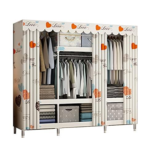 JIAO PAI Armario de metal, multifunción, estante organizador de armario, simple, portátil, tela multifunción, para dormitorio (tamaño: 172 x 45 x 150 cm, color: D)
