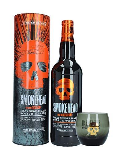 Smokehead Rum Rebel Single Malt Scotch Whisky mit Glas, 0,7 L