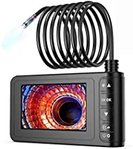 Industrial Endoscope, SKYBASIC 1080P HD Digital Borescope Camera Waterproof 4.3 Inch LCD Screen Snake Camera Video Inspection Camera with 6 LED Lights, Semi-Rigid Cable, 32GB TF Card and Tool (16.5FT)