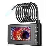 SKYBASIC Endoscope Industriel, 1080P HD Pipeline Caméra Numérique, Endoscope Étanche 4.3 Pouces, LCD Écran Snake Caméra, vidéo d'inspection avec 6 LED, Câble Semi-Rigide, Carte Mémoire de 32G(5M)