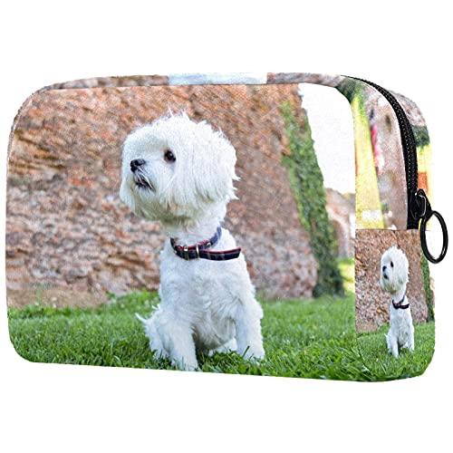 Bolsa de maquillaje compacta Neceser de viaje portátil para bolsas de cosméticos,perro...